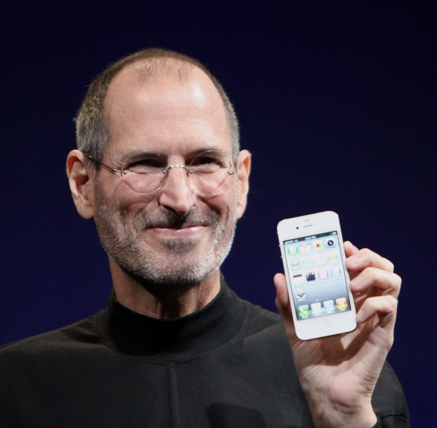 Steve Jobs with the iPhone...my hero and one of my favourite pieces of modern tech.