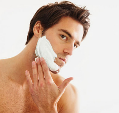 shaving face